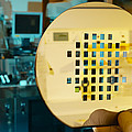 Mems Production, Machined Silicon Wafer by Colin Cuthbert