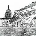 Millenium Bridge And St Pauls by David Pyatt