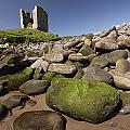 Minard Castle And Rocky Beach Minard by Trish Punch