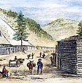 Mining Camp, 1860 by Granger