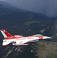 Minute Men Paint Scheme On An F-16 by Stocktrek Images