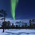 Moonlight And Aurora Borealis by Arild Heitmann