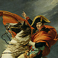 Napoleon Crossing The Alps On 20th May 1800 by Jacques Louis David