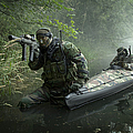 Navy Seals Navigate The Waters by Tom Weber