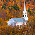 New England Church In Autumn by Jill Battaglia