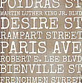 New Orleans Streets by Southern Tradition