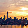Ny Skyline Sunrise Gold by Regina Geoghan