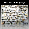 Obidos Stone Wall Portugal by John Shiron