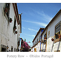 Obidos Street Portugal by John Shiron