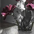 Pink Gerbera Floral Still Life by Linda Dunn
