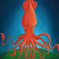 Orange Squid by Addison DiFresco