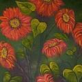 Orange Sunflowers by SHER Millis