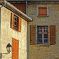 Orange Windows In Provence by Dave Mills