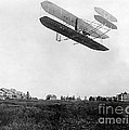 Orville Wright In Wright Flyer, 1908 by Photo Researchers