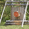 Outdoor Wooden Bulls-eye by Jaak Nilson
