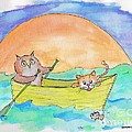 Owl And Pussycat by Marybeth Friel-Patton