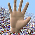 Painkiller Addiction, Conceptual Artwork by David Mack