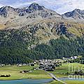 Panoramic View Over Mountain by Mats Silvan