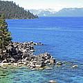 Pines Boulders And Crystal Waters Of Lake Tahoe by Frank Wilson