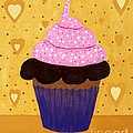 Pink Frosted Cupcake by Barbara Griffin