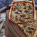 Pizza With Herbs by Joana Kruse