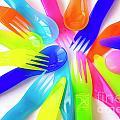 Plastic Cutlery by Carlos Caetano