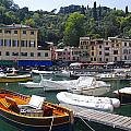 Portofino In The Italian Riviera In Liguria Italy by David Smith