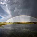 Prairie Hail Storm And Rainbow by Mark Duffy