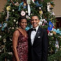 President And Michelle Obama Pose by Everett