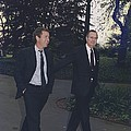 President George H.w. Bush Walks by Everett