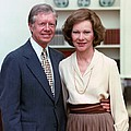President Jimmy Carter And Rosalynn by Everett