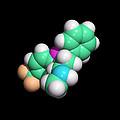 Prozac Antidepressant Drug Molecule by Dr Tim Evans