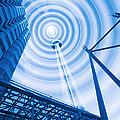 Radio Tower With Radio Waves by Mehau Kulyk