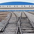 Railway Shed And Sidings. Bright Blue by Guang Ho Zhu