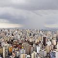 Rain Shower Approaching Downtown Sao Paulo by Jeremy Woodhouse