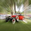Red Antique Car by Randy J Heath