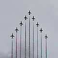 Red Arrows Vertical by Jasna Buncic