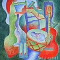 Red Guitar by Claire Gagnon