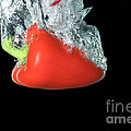 Red Pepper Falling Into Water by Ted Kinsman