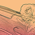 Red Rose Violin Viola by M K  Miller