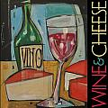 Red Wine And Cheese Poster by Tim Nyberg