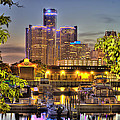 Renaissance Center Detroit Mi by Nicholas  Grunas