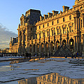 Richelieu Wing Of The Louvre Museum In Paris by Louise Heusinkveld