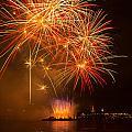 River Thames Fireworks by Dawn OConnor