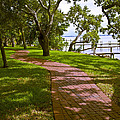 River Walk On The Indian River Lagoon by Allan  Hughes