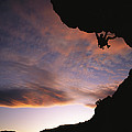 Rock Climbing Out A Steep Roof In Sinks by Bill Hatcher