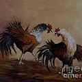 Rooster Fight by Jean Pierre Bergoeing