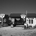 Route 66 Gas Station 2012 Bw by Frank Romeo