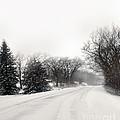 Rural Road In Winter by Jill Battaglia