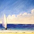 Sail On The Sea by Anina von Wachtel Diani Beach Art Gallery